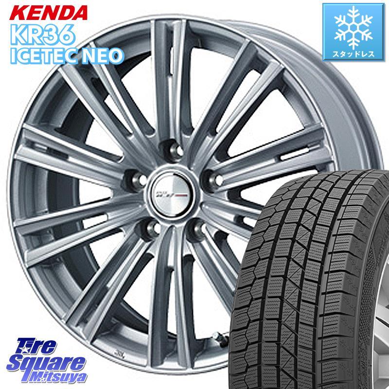 KENDA ICETEC NEO KR36 2020年製 ケンダ スタッドレスタイヤ 185/60R15 WEDS 36562 ジョーカーアイス ホイールセット 15インチ 15 X 6.0J +43 5穴 114.3