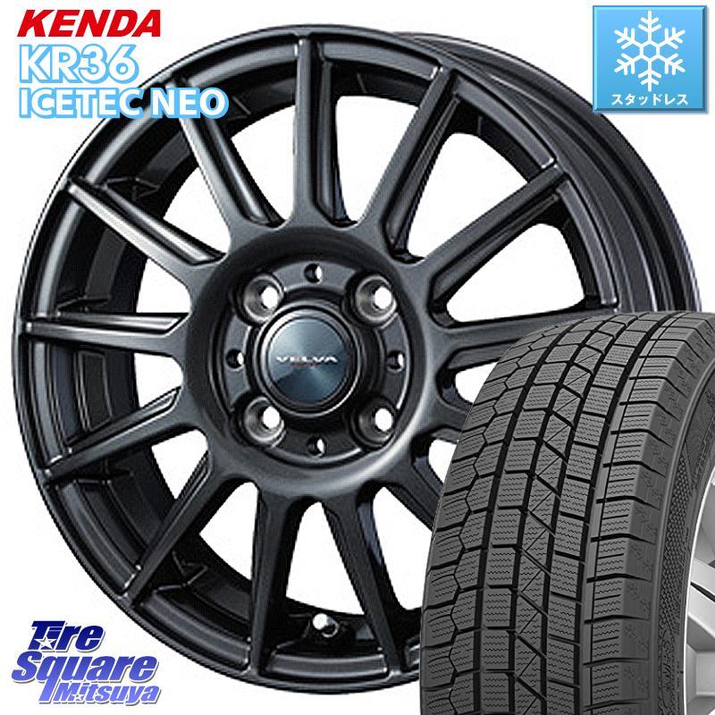 KENDA ICETEC NEO KR36 2020年製 ケンダ スタッドレスタイヤ 165/55R14 WEDS ヴェルバ イゴール ホイールセット 14インチ 14 X 4.5J +45 4穴 100