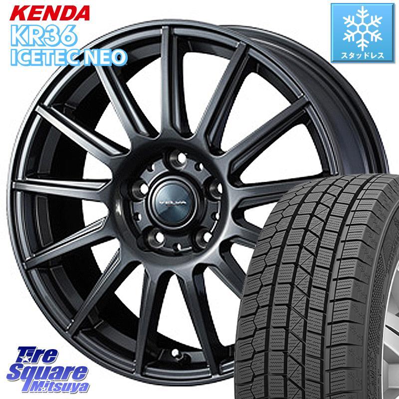 KENDA ICETEC NEO KR36 2020年製 ケンダ スタッドレスタイヤ 185/65R15 WEDS ヴェルバ イゴール 平座仕様(トヨタ車専用) ホイールセット 15インチ 15 X 6.0J +50 5穴 114.3