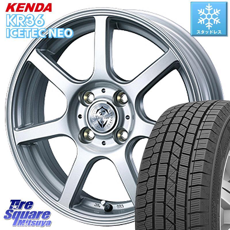 KENDA ICETEC NEO KR36 2020年製 ケンダ スタッドレスタイヤ 145/80R13 WEDS 34180 ウェッズ トレファーZR ホイールセット 13インチ 13 X 4.5J +45 4穴 100