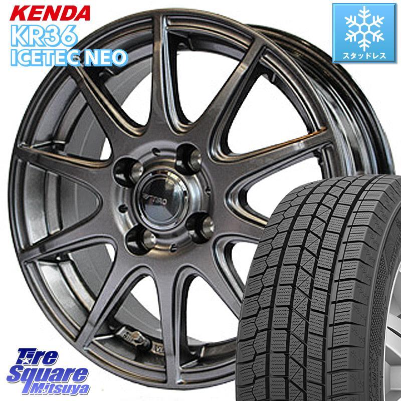 KENDA ICETEC NEO KR36 2020年製 ケンダ スタッドレスタイヤ 185/60R15 WEDS 37548 ティーロ 在庫限定 ホイールセット 15インチ 15 X 5.5J +42 4穴 100