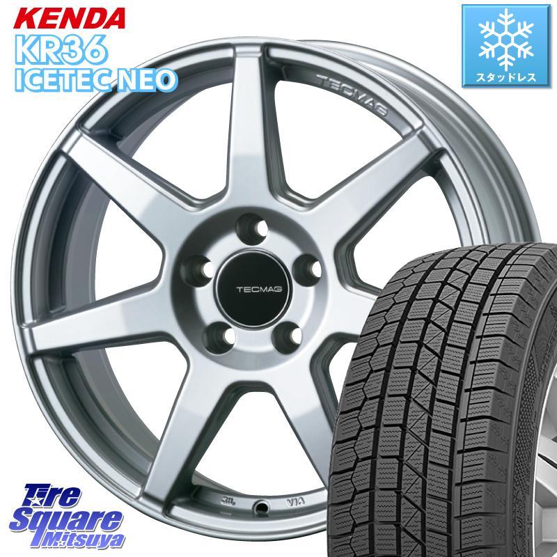 KENDA ICETEC NEO KR36 2020年製 ケンダ スタッドレスタイヤ 215/60R16 TECMAG Type 207R 16 X 6.5J(B65) +40 5穴 108