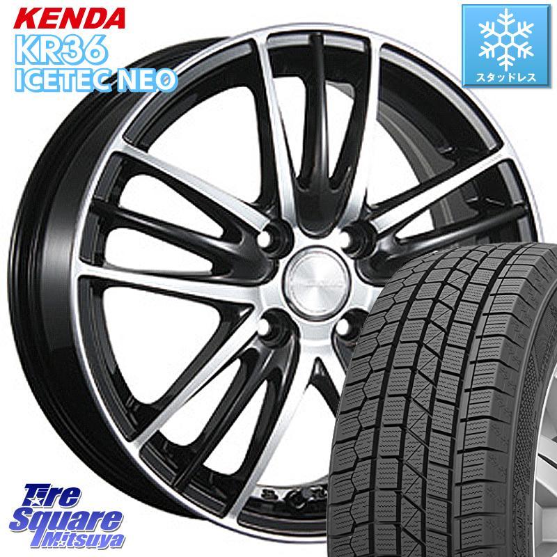 【8/25は最大21倍】 KENDA ICETEC NEO KR36 2020年製 ケンダ スタッドレスタイヤ 155/65R14 ブリヂストン ECOFORME エコフォルム CRS 18 ホイールセット 14 X 4.5J +45 4穴 100