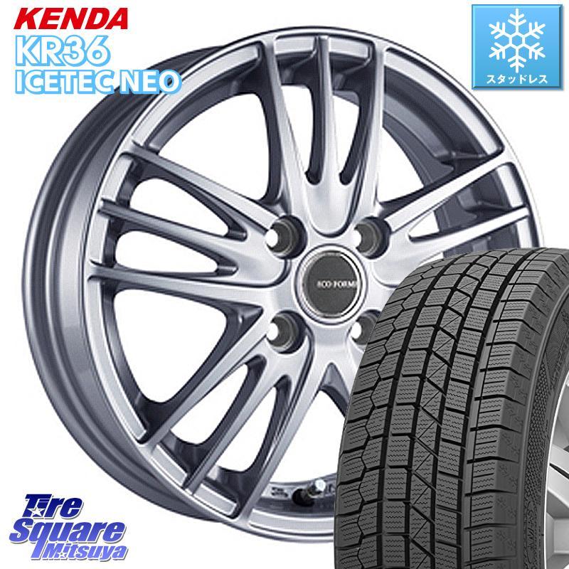【8/25は最大21倍】 KENDA ICETEC NEO KR36 2020年製 ケンダ スタッドレスタイヤ 軽自動車 165/55R15 ブリヂストン ECOFORME エコフォルム SE-18 SE18 ホイールセット 15 X 4.5J +48 4穴 100