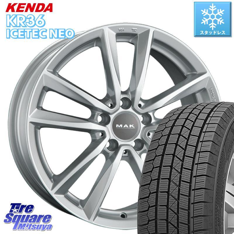 【8/20はお盆明け初売りセール】 KENDA ICETEC NEO KR36 2020年製 ケンダ スタッドレスタイヤ 205/55R16 阿部商会 MAK BREMEN ホイールセット 16インチ 16 X 7.0J(MB) +43 5穴 112