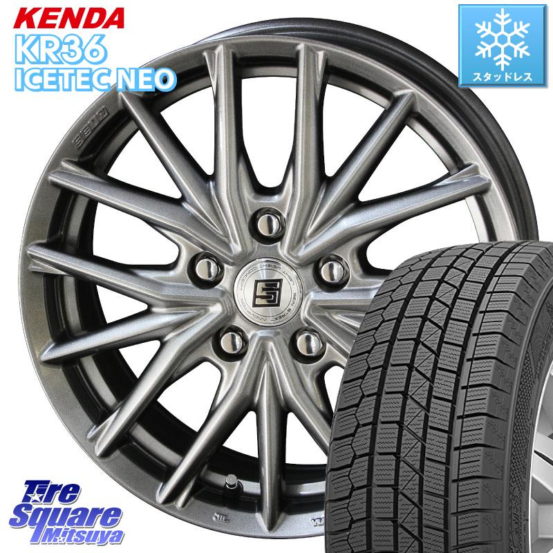 KENDA ICETEC NEO KR36 2020年製 ケンダ スタッドレスタイヤ 185/65R15 KYOHO SEIN SX ザイン SX 平面座 平座仕様(トヨタ車専用) ホイールセット 15インチ 15 X 6.0J +50 5穴 114.3
