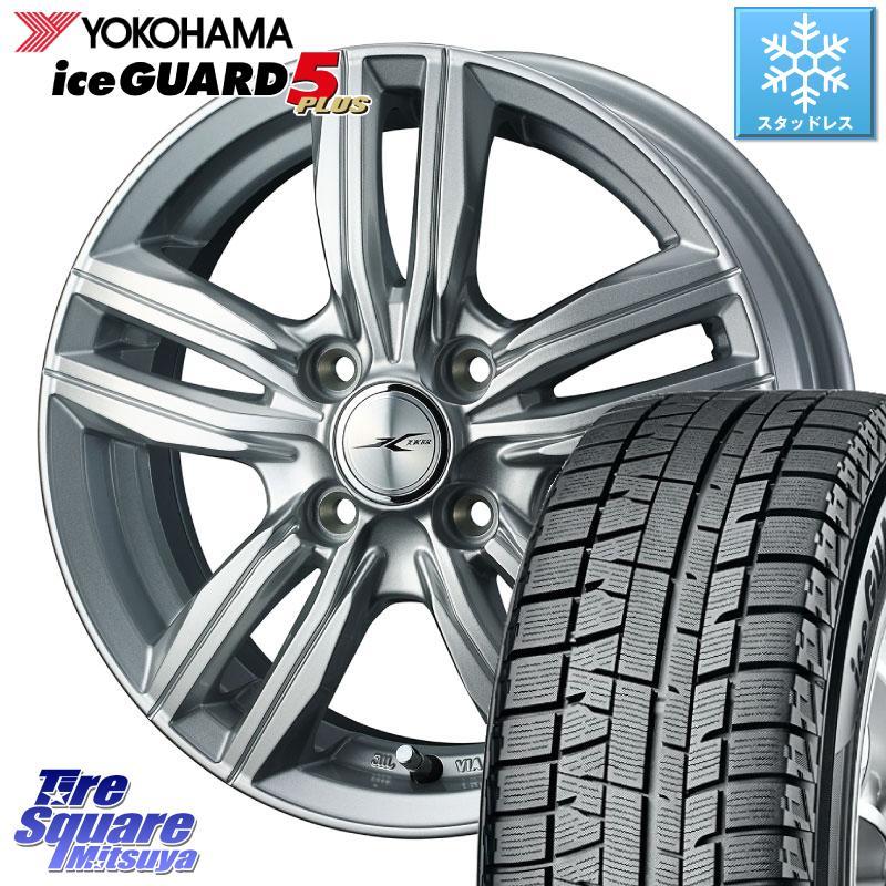 YOKOHAMA ice GUARD5+ IG50プラス アイスガード 軽自動車 ヨコハマ スタッドレスタイヤ 155/65R14 WEDS 39116 ジョーカースクリュー ホイールセット 14インチ 14 X 4.5J +45 4穴 100