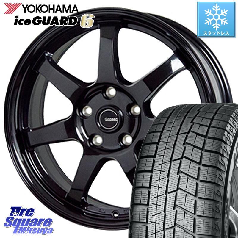 8 20はお盆明け初売りセール フォレスター YOKOHAMA iceGUARD6 ig60 アイスガード ヨコハマ スタッドレスタイヤ 215 60R16 HotStuff G-SPEED G-03 G03 ブラック ホイールセット 16インチ 16 X