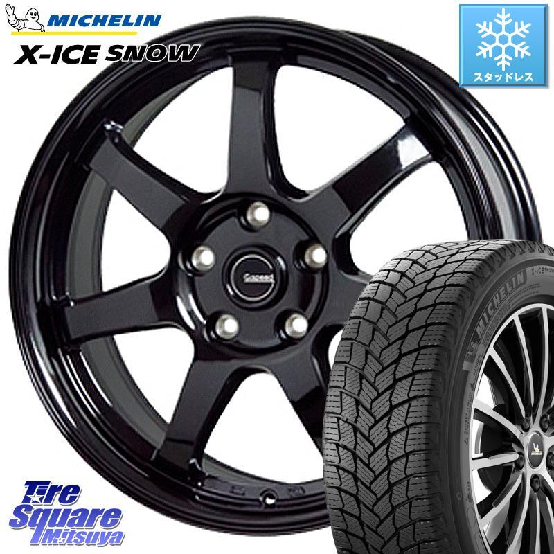 ミシュラン X-ICE SNOW エックスアイススノー XICE SNOWスタッドレス 正規品 215/65R16 HotStuff G-SPEED G-03 G03 ブラック ホイールセット 16インチ 16 X 6.5J +53 5穴 114.3