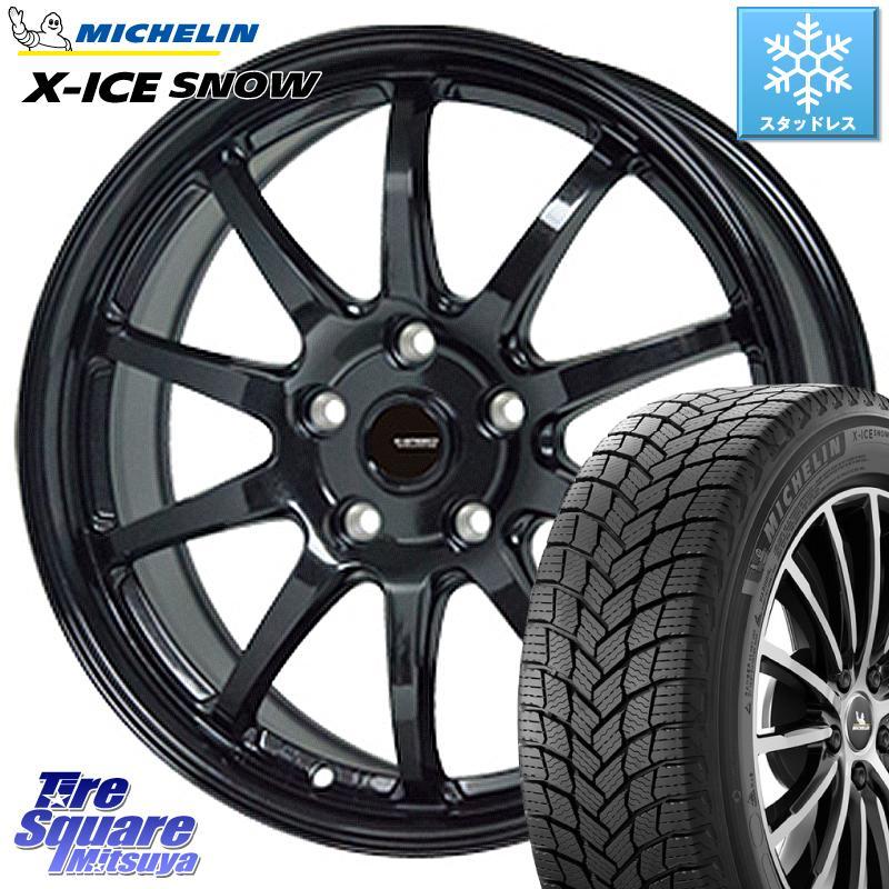 ミシュラン X-ICE SNOW エックスアイススノー XICE SNOWスタッドレス 正規品 215/65R16 HotStuff G-SPEED G-04 G04 ブラック ホイールセット 16インチ 16 X 6.5J +48 5穴 114.3