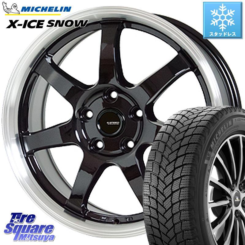 ミシュラン X-ICE SNOW エックスアイススノー XICE SNOWスタッドレス 正規品 195/60R15 HotStuff 軽量設計!G.speed P-03 ホイールセット 15インチ 15 X 6.0J +43 5穴 100