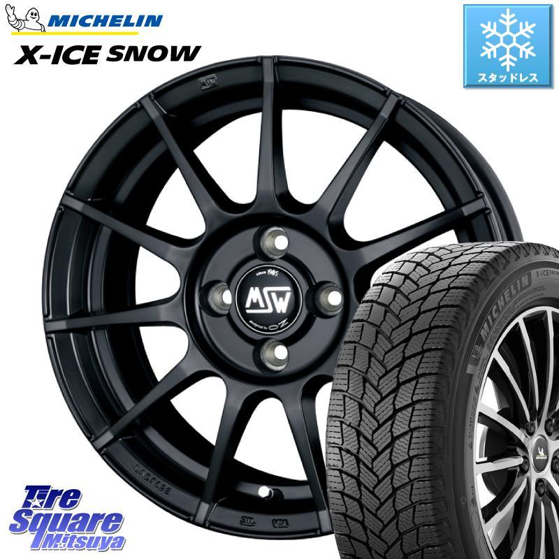 ミシュラン X-ICE SNOW エックスアイススノー XICE SNOWスタッドレス 正規品 195/65R15 MSW by OZ MSW85 ブラック ホイールセット 15インチ 15 X 6.0J +25 4穴 108
