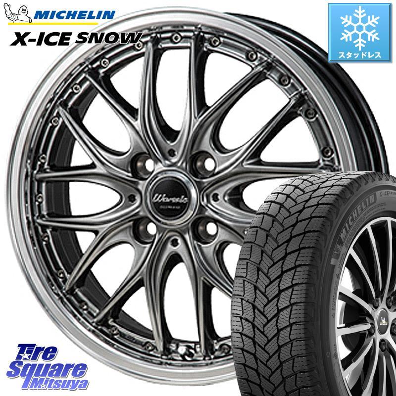 ミシュラン X-ICE SNOW エックスアイススノー XICE SNOWスタッドレス 正規品 185/65R15 MONZA Warwic DEEPRAND ホイールセット 15 X 5.5J +43 4穴 100