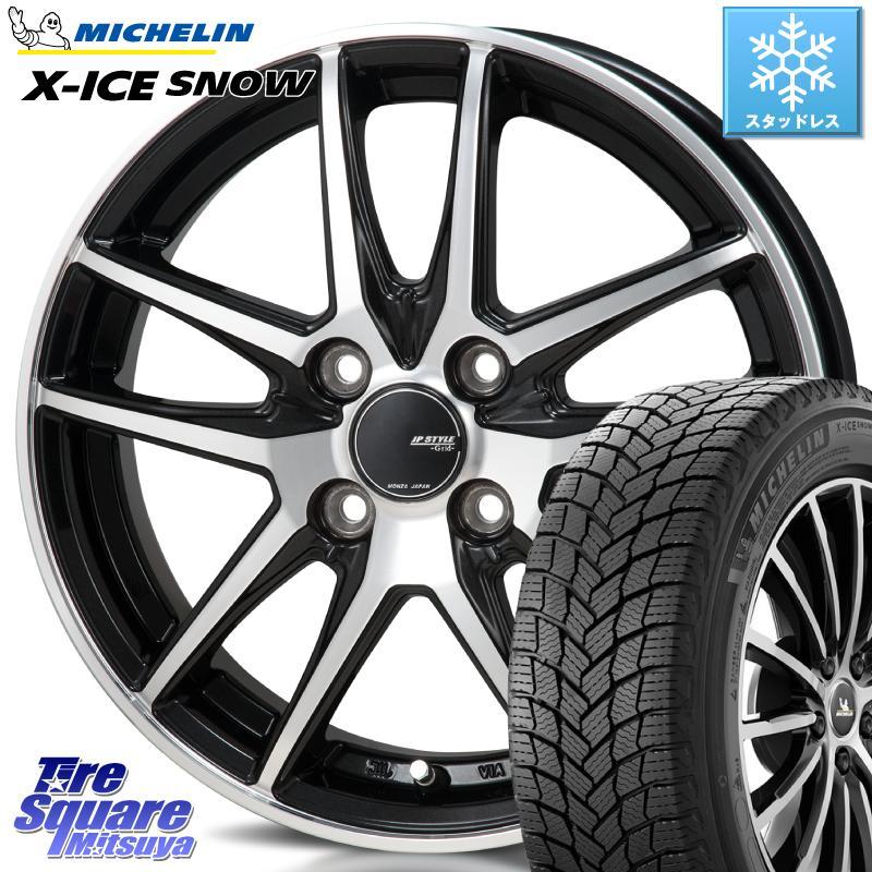 ミシュラン X-ICE SNOW エックスアイススノー XICE SNOWスタッドレス 正規品 175/60R16 MONZA JP STYLE GRID ホイール セット 16インチ 16 X 6.0J +42 4穴 100