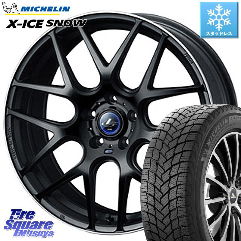 ミシュラン X-ICE SNOW エックスアイススノー XICE SNOWスタッドレス 正規品 245/40R18 WEDS レオニス ナビア06 ウェッズ 37627 ホイールセット 18インチ 18 X 8.0J +42 5穴 114.3