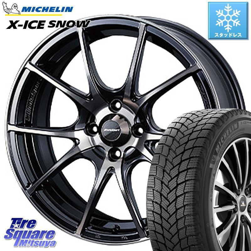 ミシュラン X-ICE SNOW エックスアイススノー XICE SNOWスタッドレス 正規品 195/65R15 WEDS 72616 SA-10R ウェッズ スポーツ ホイールセット 15インチ 15 X 6.0J +38 4穴 100
