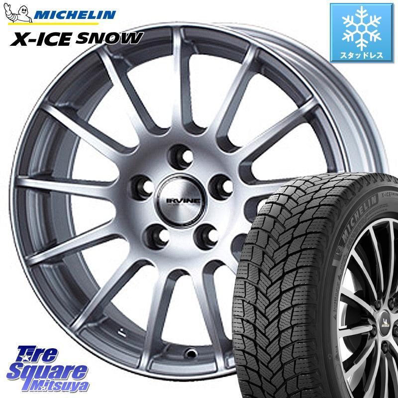 ミシュラン X-ICE SNOW エックスアイススノー XICE SNOWスタッドレス 正規品 185/65R15 WEDS IR56025P ウェッズ IRVINE F01 ホイールセット 15インチ 15 X 6.0J +25 4穴 108