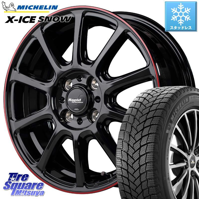 ミシュラン X-ICE SNOW エックスアイススノー XICE SNOWスタッドレス 正規品 185/60R15 MANARAY ラピッドパフォーマンス ZX10 ホイールセット 15インチ 15 X 5.5J +43 4穴 100