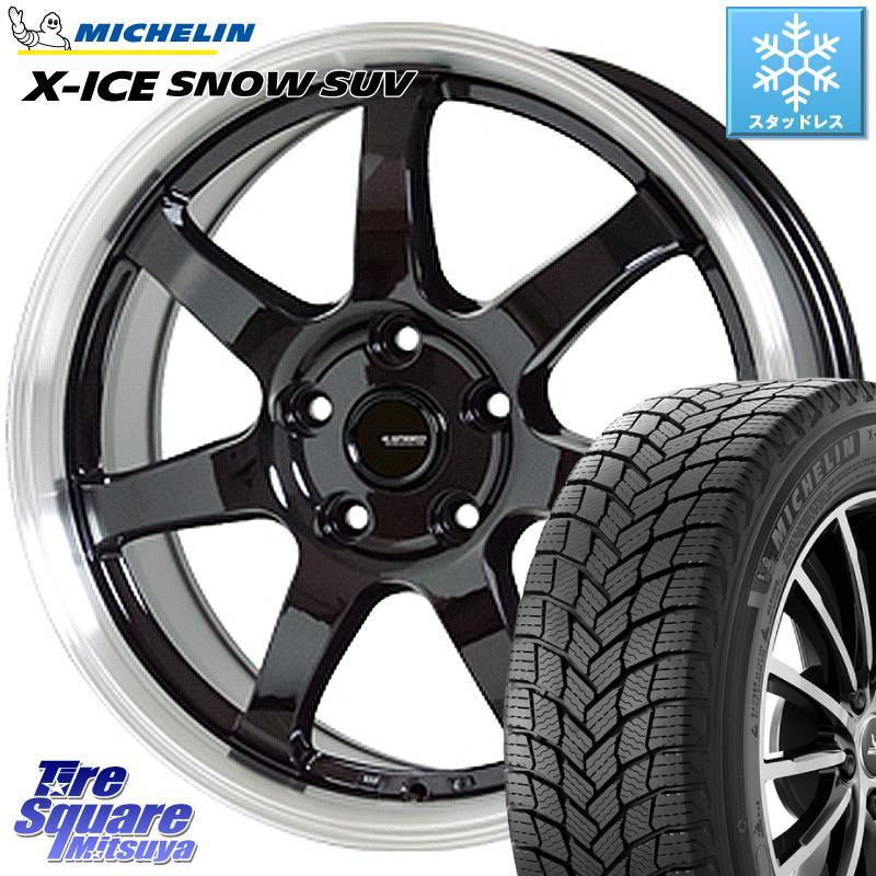 デリカ D5 エクストレイル ミシュラン X-ICE SNOW エックスアイススノー SUV XICE SNOW SUVスタッドレス 正規品 215/70R16 HotStuff 軽量設計!G.speed P-03 ホイールセット 16インチ 16 X 6.5J +38 5穴 114.3