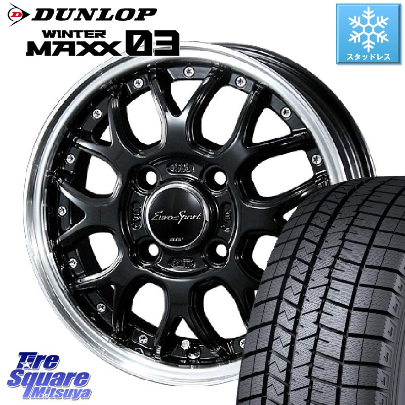 インサイト フィット DUNLOP WINTER MAXX 03 ウィンターマックス WM03 ダンロップ スタッドレスタイヤ 175/65R15 BLEST Eurosport Type815 ホイールセット 15インチ 15 X 5.5J +50 4穴 100