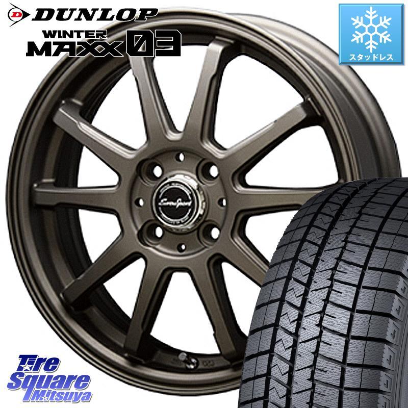 ソリオ DUNLOP WINTER MAXX 03 ウィンターマックス WM03 ダンロップ スタッドレスタイヤ 165/65R15 BLEST Eurosport TypeSS-01 ホイールセット 15インチ 15 X 5.0J +45 4穴 100