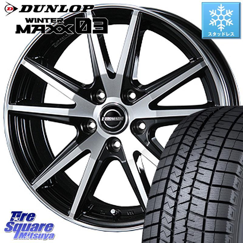 CR-Z DUNLOP WINTER MAXX 03 ウィンターマックス WM03 ダンロップ スタッドレスタイヤ 185/65R15 BLEST EUROMAGIC Lance STP ホイールセット 15インチ 15 X 6.0J +45 5穴 114.3