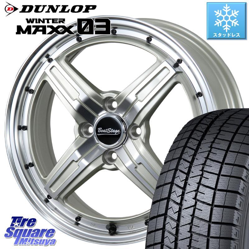 DUNLOP WINTER MAXX 03 ウィンターマックス WM03 ダンロップ スタッドレスタイヤ 165/65R15 BLEST Beat Stage FS-C ホイール セット 15インチ 15 X 5.5J +38 4穴 100