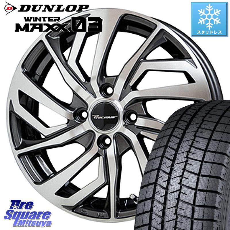 ソリオ DUNLOP WINTER MAXX 03 ウィンターマックス WM03 ダンロップ スタッドレスタイヤ 165/65R15 HotStuff プレシャス Precious C-1 C1 ホイールセット 15 X 4.5J +45 4穴 100
