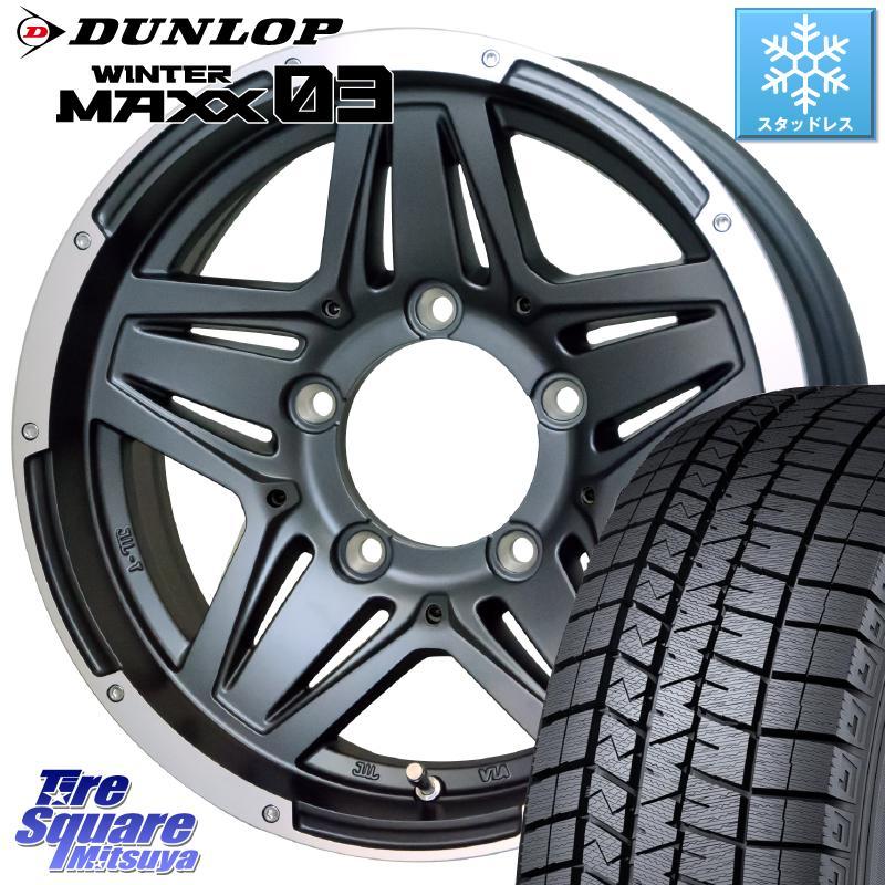 シエラ DUNLOP WINTER MAXX 03 ウィンターマックス WM03 ダンロップ スタッドレスタイヤ 215/70R15 HotStuff マッドクロス JB-01 JB01 ホイールセット 15インチ 15 X 6.0J +0 5穴 139.7