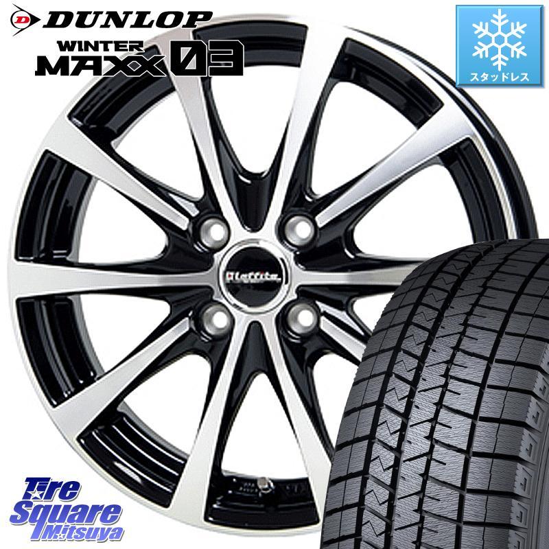 ソリオ ハスラー DUNLOP WINTER MAXX 03 ウィンターマックス WM03 ダンロップ スタッドレスタイヤ 165/60R15 HotStuff ラフィット LE-03 ホイールセット 15インチ 15 X 4.5J +45 4穴 100