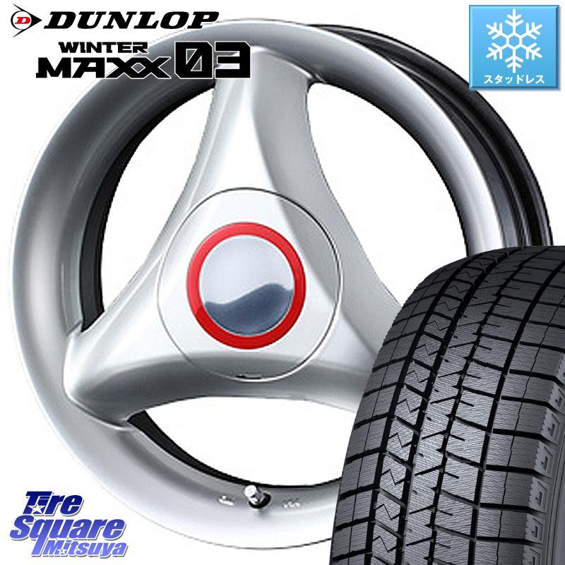 ソリオ ハスラー DUNLOP WINTER MAXX 03 ウィンターマックス WM03 ダンロップ スタッドレスタイヤ 165/60R15 WEDS 37482 ウェッズ RECREO レクレオ S3 ホイールセット 15インチ 15 X 4.5J +45 4穴 100