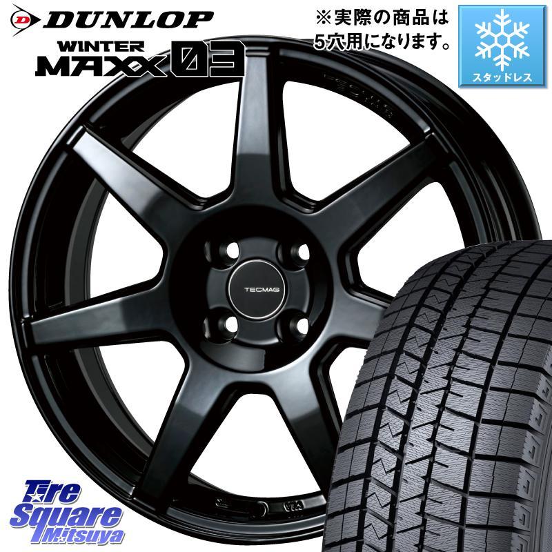 DUNLOP WINTER MAXX 03 ウィンターマックス WM03 ダンロップ スタッドレスタイヤ 175/65R15 TECMAG Type 207R 15 X 5.5J(MINI) +46 5穴 112