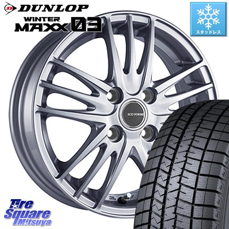 DUNLOP WINTER MAXX 03 ウィンターマックス WM03 ダンロップ スタッドレスタイヤ 165/65R15 ブリヂストン ECOFORME エコフォルム SE-18 SE18 ホイールセット 15 X 5.5J +42 4穴 100