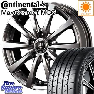 コンチネンタル MaxContact MC6 215/45R18 MANARAY EUROSPEED ユーロスピード G10 ホイールセット 4本 18インチ 18 X 7 +38 5穴 114.3