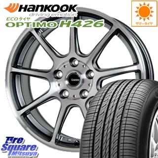 HANKOOK ハンコック OPTIMO オプティモ H426 サマータイヤ 205/70R15 HotStuff 軽量設計!G.speed P-01 ホイールセット 4本 15インチ 15 X 6 +43 5穴 100
