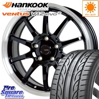 HANKOOK ハンコック ventusV12evo2 ベンタス K120 サマータイヤ 215/40R18 HotStuff 軽量設計!G.speed P-04 ホイールセット 4本 18インチ 18 X 7.5 +38 5穴 114.3