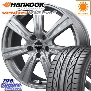 HANKOOK ハンコック ventusV12evo2 ベンタス K120 サマータイヤ 225/40R18 MANARAY Euro Speed C-07 ホイールセット 4本 18インチ 18 X 7.5 +38 5穴 114.3