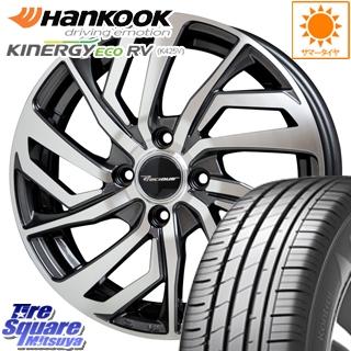 HANKOOK ハンコック KINERGY ECO RV K425V サマータイヤ 195/65R15 HotStuff プレシャス Precious C-1 4本 ホイールセット 15 X 5.5 +45 4穴 100