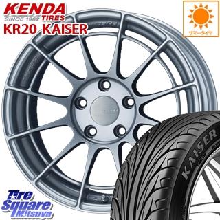 【3月10日限定Rカードde最大46倍!】 86 カローラ KENDA ケンダ KAISER KR20 限定 サマータイヤ 225/40R18 ENKEI Racing Revolution NT03RR ホイールセット 4本 18 X 8.0J +45 5穴 100
