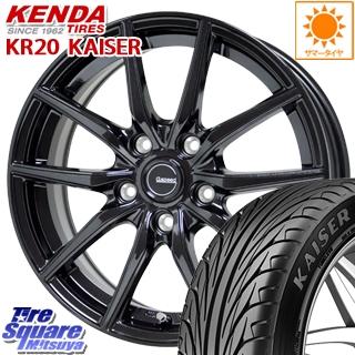 【8/5はお盆明け出荷セール】 フォレスター HotStuff G.speed G-02 G02 ブラック ホイールセット 18インチ 18 X 7.5J +53 5穴 100KENDA ケンダ KAISER KR20 サマータイヤ 245/45R18