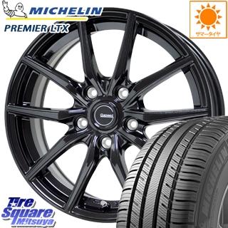 【5/20は最大26倍】 NX HotStuff G.speed G-02 G02 ブラック ホイールセット 18インチ 18 X 7.5J +38 5穴 114.3ミシュラン Premier LTX プレミア 正規品 サマータイヤ 235/55R18