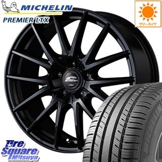 ミシュラン Premier LTX プレミア 正規品 サマータイヤ 215/65R16 MANARAY SCHNEDER SQ27 ブラック ホイールセット 4本 16インチ 16 X 6.5 +53 5穴 114.3