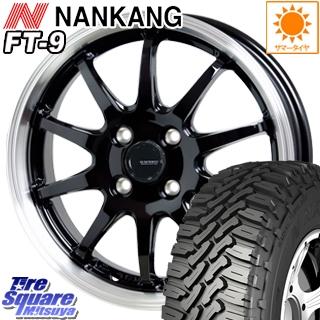 NANKANG TIRE ROLLNCX FT-9 ホワイトレター サマータイヤ 165/65R14 HotStuff 軽量設計!G.speed P-04 ホイールセット 4本 14インチ 14 X 4.5 +45 4穴 100