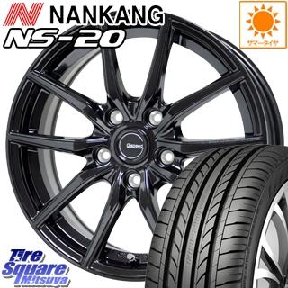 【8/5はお盆明け出荷セール】 スイフト スイフトスポーツ HotStuff G.speed G-02 G02 ブラック ホイールセット 18インチ 18 X 7.5J +55 5穴 114.3NANKANG TIRE ナンカン NS-20 NS20 サマータイヤ 215/35R18