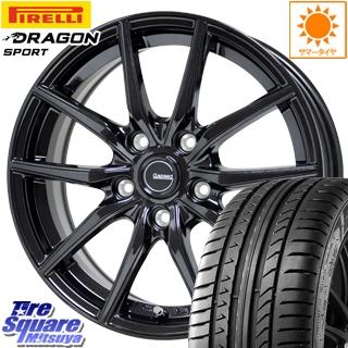 ピレリ DRAGON SPORT ドラゴン スポーツ (数量限定特価) サマータイヤ 225/40R18 HotStuff G.speed G-02 ブラック ホイールセット 4本 18インチ 18 X 7.5 +38 5穴 114.3