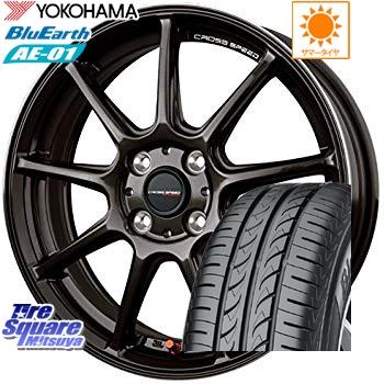 YOKOHAMA ヨコハマ ブルーアース AE-01 サマータイヤ 175/60R16 HotStuff クロススピード RS9 軽量 ホイールセット 16インチ 16 X 6.0J +45 4穴 100