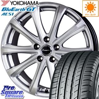 YOKOHAMA ヨコハマ BluEarth-GT AE51 ブルーアース サマータイヤ 225/60R16 HotStuff エクシーダー E04 4本 ホイールセット 16インチ 16 X 6.5 +38 5穴 114.3