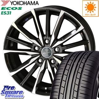 YOKOHAMA ヨコハマ エコス ECOS ES31 サマータイヤ 225/45R18 KYOHO スマック ヴァルキリー ホイールセット 4本 18インチ 18 X 7 +53 5穴 114.3