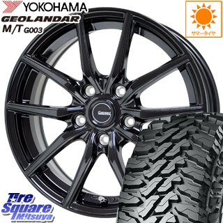 YOKOHAMA ヨコハマ ジオランダー MT M/T G003 サマータイヤ 225/65R17 HotStuff G.speed G-02 ブラック ホイールセット 4本 17インチ 17 X 7 +48 5穴 114.3