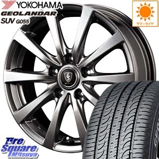 YOKOHAMA ヨコハマ ジオランダー SUV G055 サマータイヤ 235/70R16 MANARAY EUROSPEED G10 平座仕様(トヨタ車専用) ホイールセット 4本 16インチ 16 X 6.5 +38 5穴 114.3